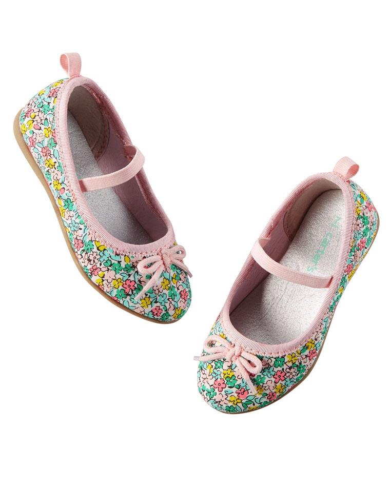 亲妈必收 仅65元  美国carters卡特原单   女童超可爱 蝴蝶结装饰  公主鞋船鞋