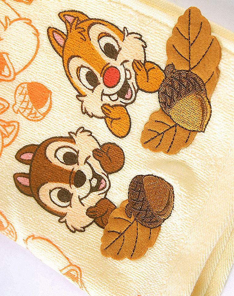 品质生活  超级好物 仅9.8元一个     日本毛巾世家UCHINO内野 纯正原单  超萌松鼠  精致贴布装饰 柔软吸水   无捻高档方巾  纯棉方巾