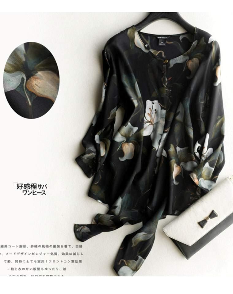 品质生活  顶级桑蚕丝  仅248元  大牌订单  香水百合真丝衬衫 雅致极抬气质