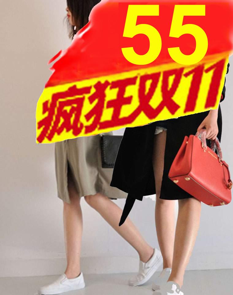 疯狂双11  只为赚口碑  仅55元 不一样的雪纺风衣  超垂坠  仅85元 德国ESMARA纯正原单  翻领  纯色收腰无扣雪纺风衣 中长外套