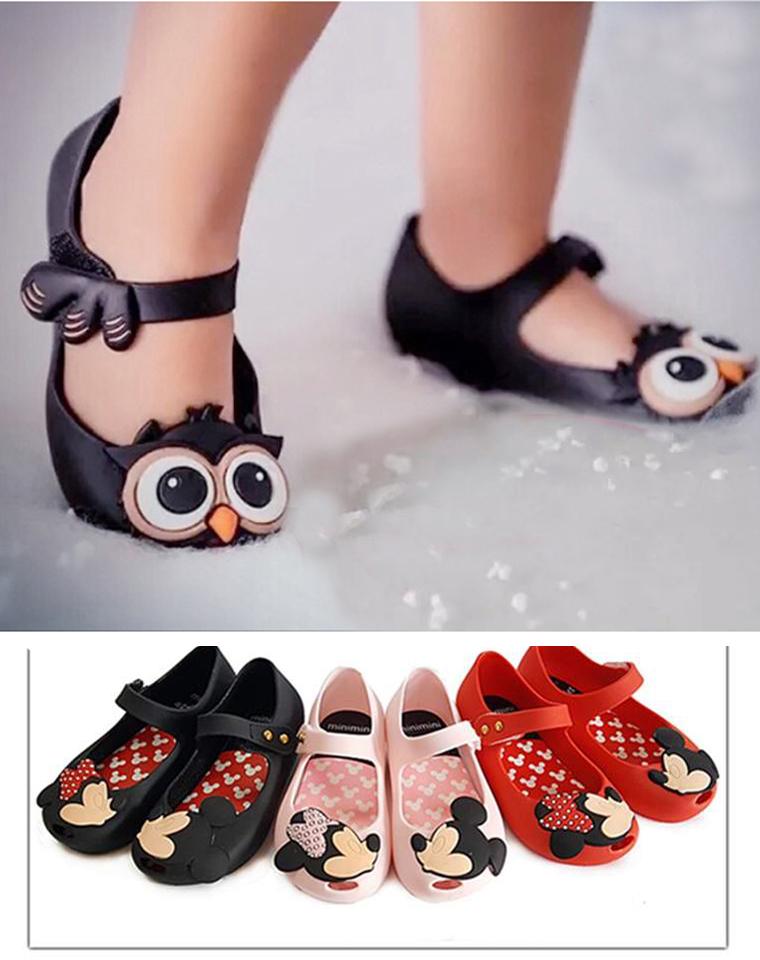 小七最爱 仅98元  巴西mini melissa  梅丽莎 最新 米奇  猫头鹰儿童果冻香香鞋 鱼嘴凉鞋