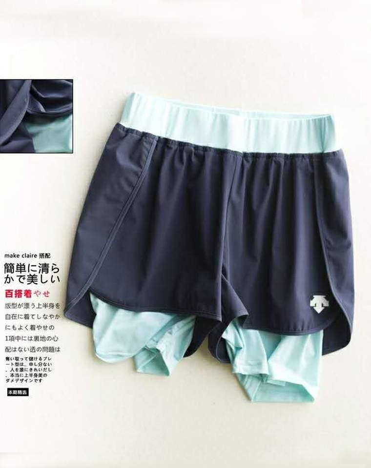 品质生活 仅98元  小日本儿DESCENTE迪桑特健身运动短裤,安全防走光