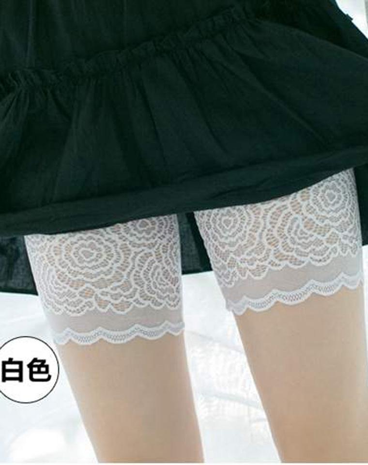 人手几条不嫌多  仅14.9元  日本订单   夏薄款防走光安全裤    蕾丝可外穿打底裤   收腹高腰修身三分保险裤短裤   有大码