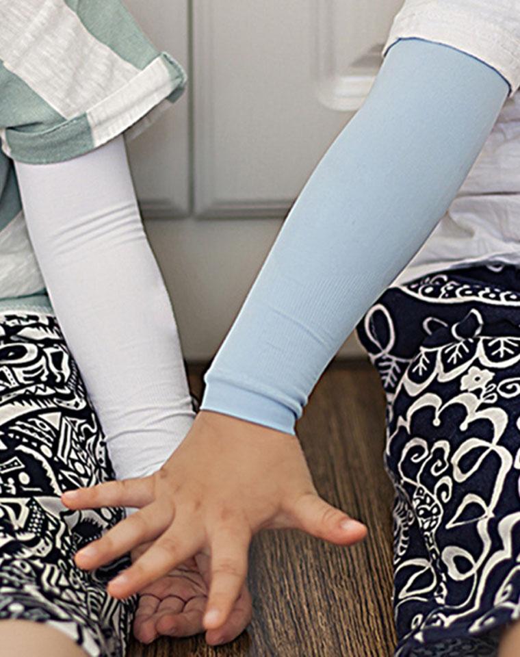专为孩子设计  亲妈必收  仅14.9元   儿童冰丝防晒袖 正品保证