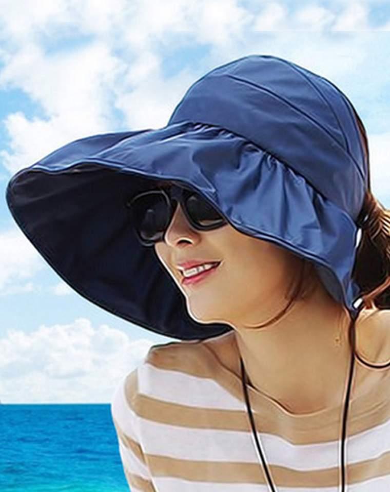 大帽檐不遮眼  仅19元 超实用 可折叠 防紫外线大沿沙滩防晒太阳帽  可折叠凉帽