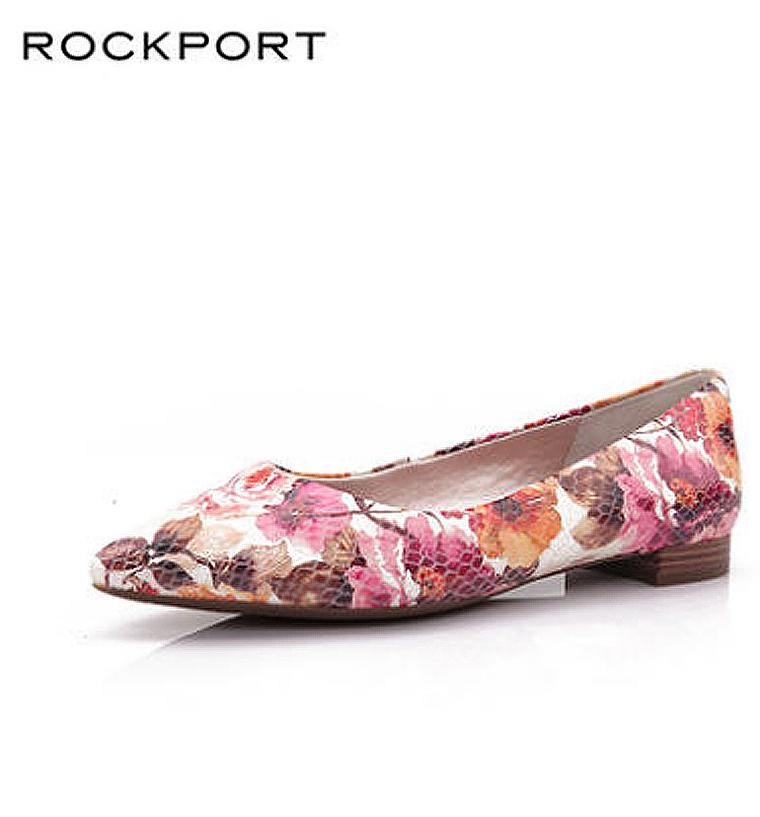 拔草必收  最舒适尖头鞋 仅228元  美国老牌Rockport 乐步     牛皮印花浅口皮鞋   款号V80589尖头蛇纹女鞋
