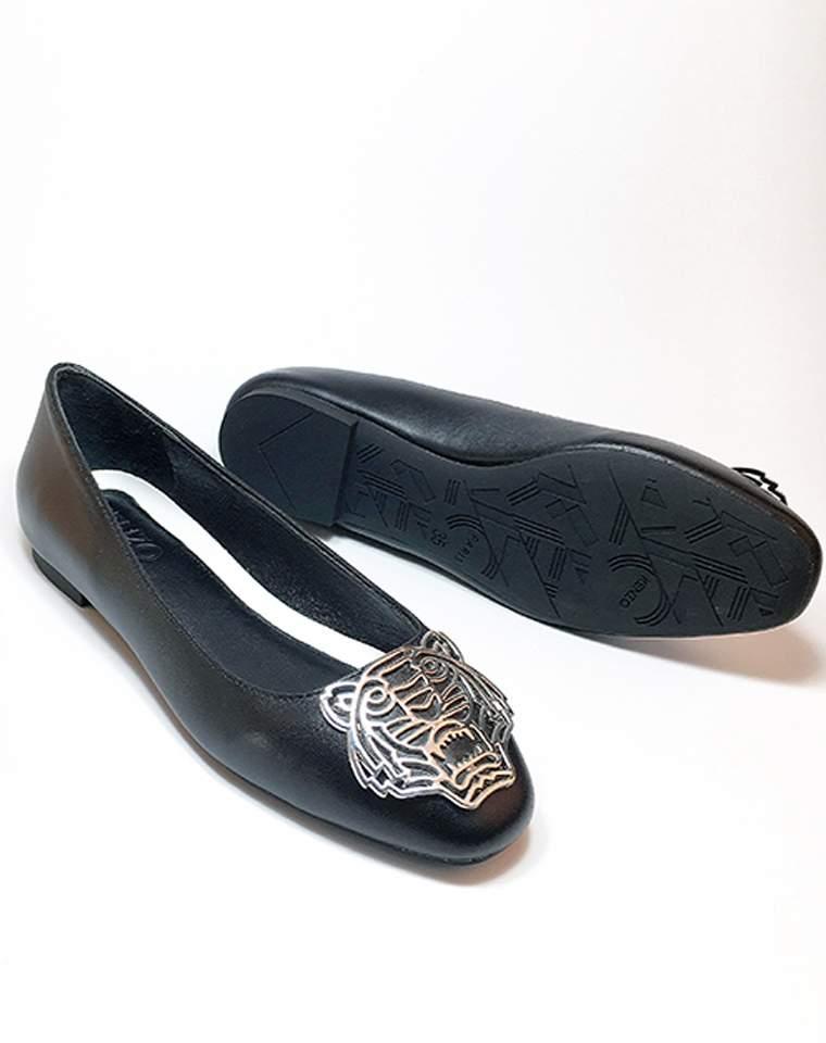 超值捡漏 仅228元  kenzo舒适真皮  大气金属老虎头  透气超软平底鞋单鞋浅口圆头鞋