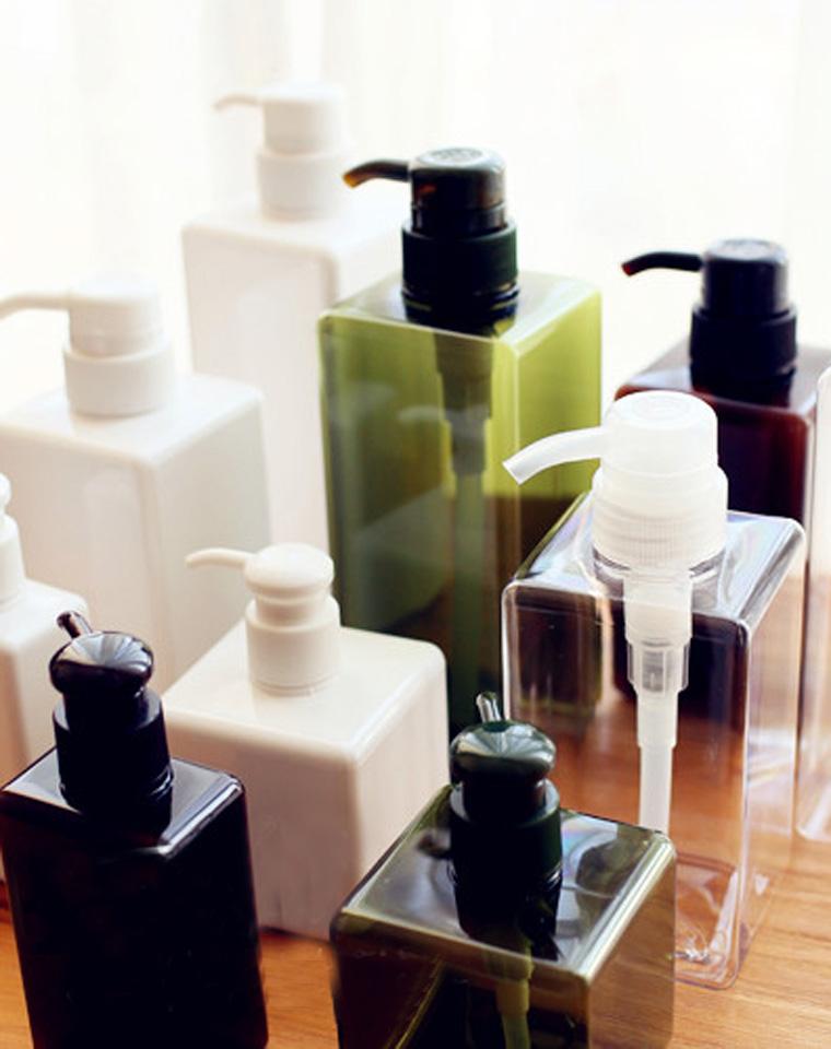 无印良品 PETG乳液四方瓶 分装瓶 洗发水按压分装瓶