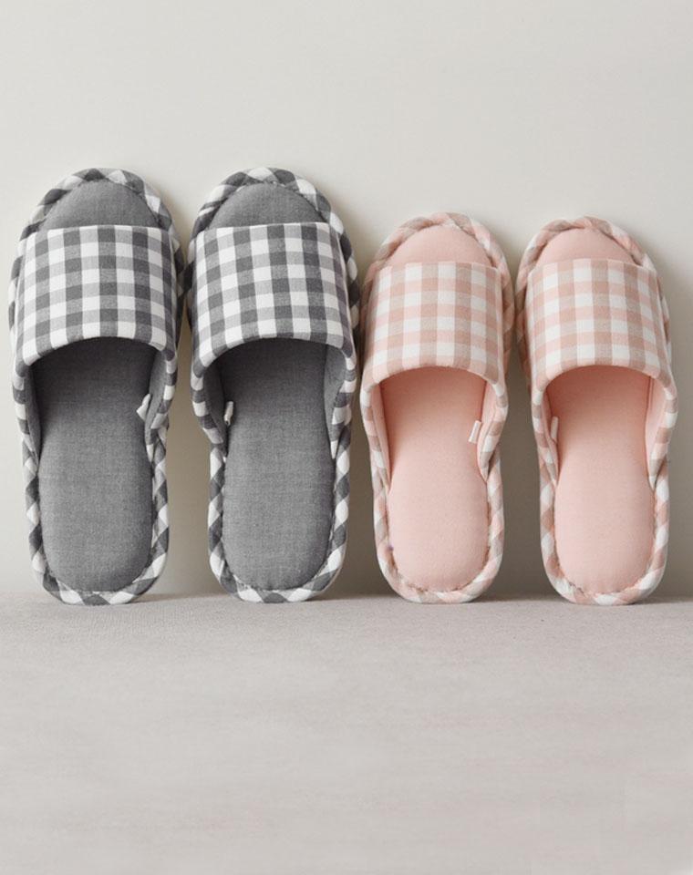 居家尤物  男款女款 仅38元  日本无印良品  纯棉软底防滑地板居家鞋  厚底室内拖鞋