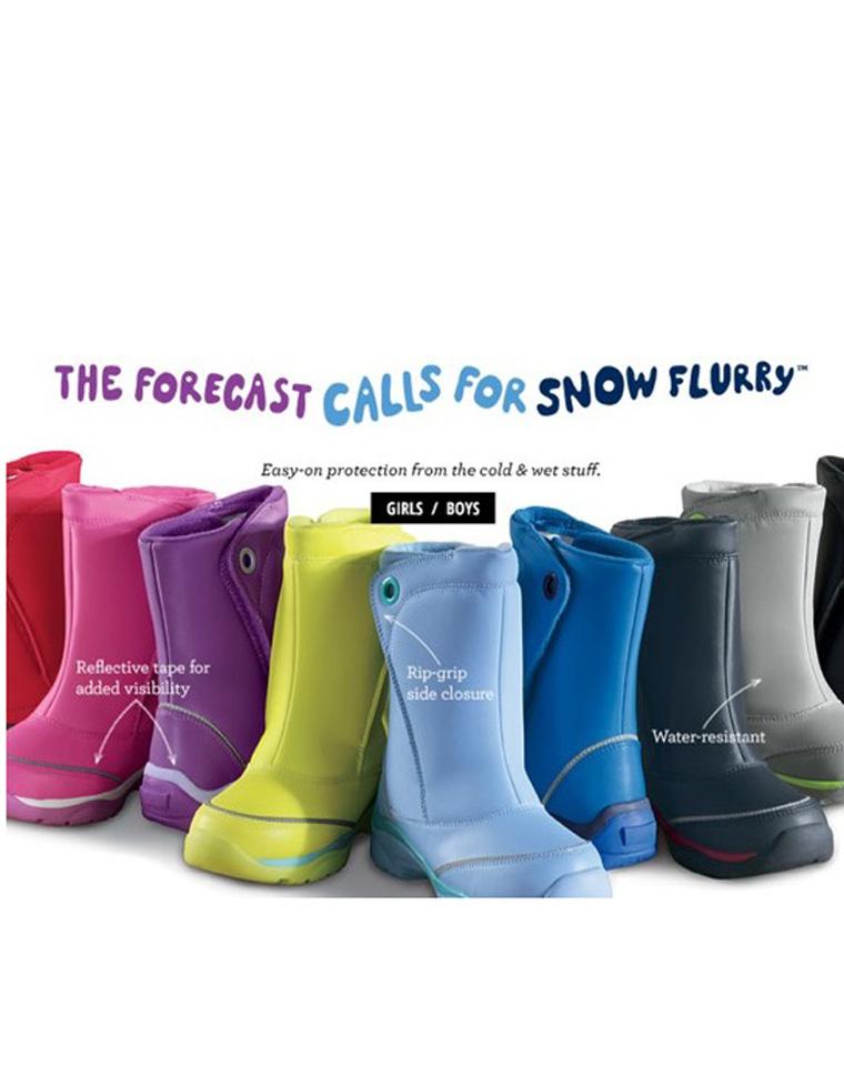超级牛货 可亲子 真正的防水雪地靴 仅168元  美国LANDSEND防风防沙防雪靴