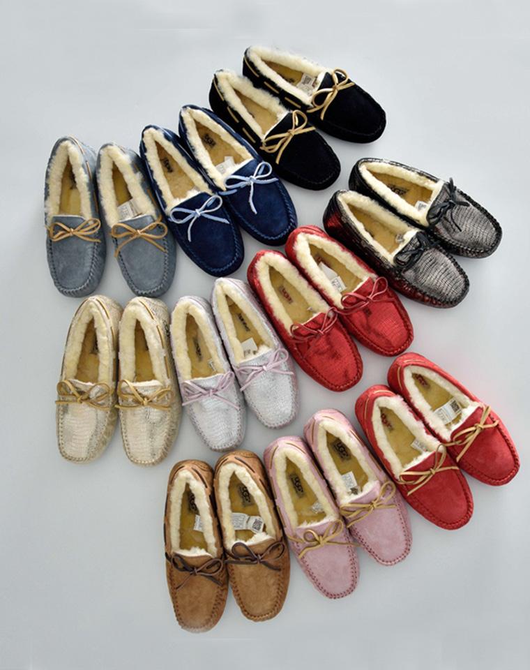 冬季最实穿保暖的豆豆鞋  仅220元 澳洲UGG纯正原单 全原包装  内里皮毛一体!舒适好穿平底鞋 豆豆鞋 暖脚鞋