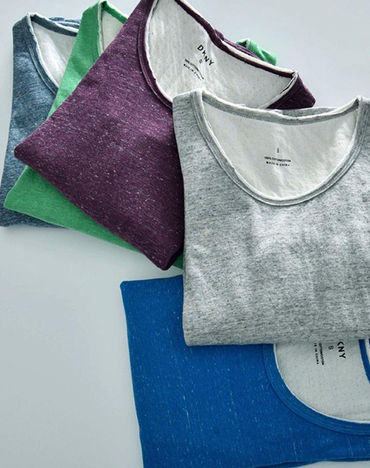 极致柔软 婴儿般的待遇 仅68元  美国DKNY纯正原单 舒适双层针眼棉  超亲肤  多色打底长袖T恤