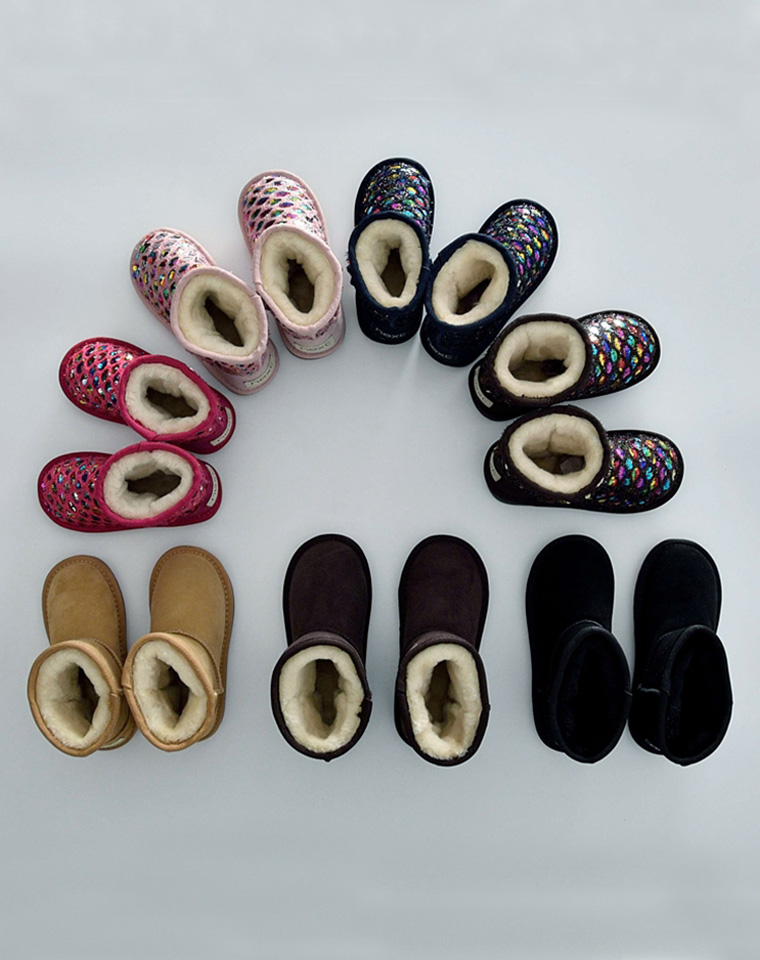 亲妈必收 美呆了 男童女童皆可 仅148元  英国next纯正原单  亮片翻毛皮 儿童雪地靴短靴 真皮棉靴 宝宝冬靴男童鞋