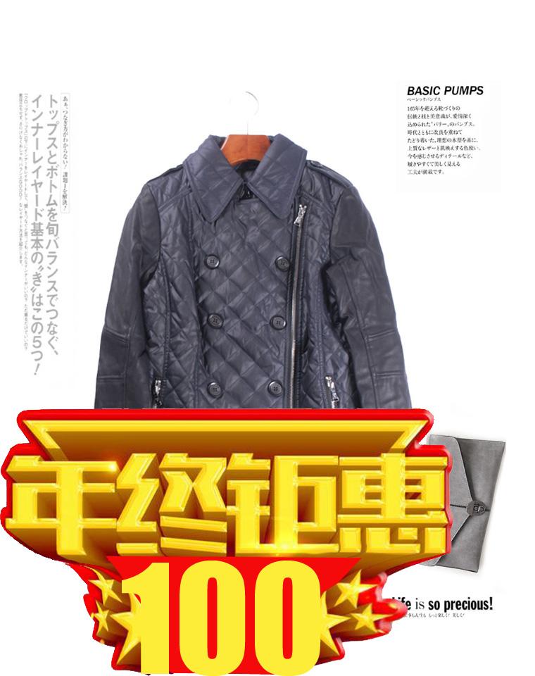 年终捡漏钜惠   仅100元     给识货的亲    仅185元 美国GUESS纯正原单 秋冬最新  PU袖拼接  斜拉链  衍缝  薄棉服