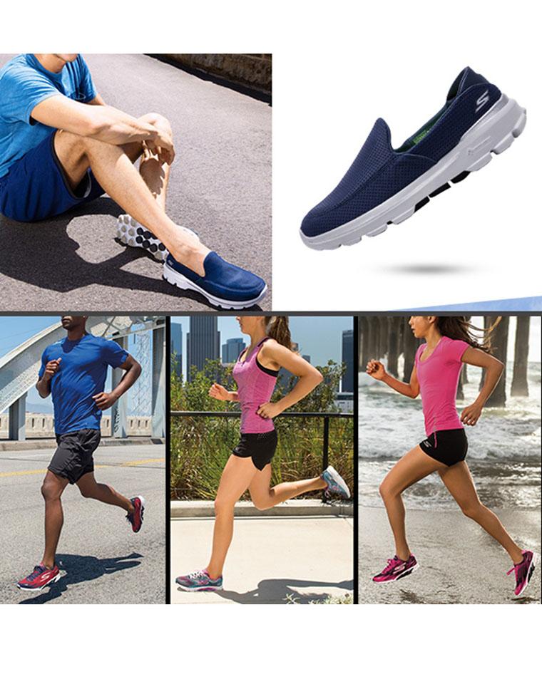 超级福利  仅99元 128元  skechers斯凯奇 男款 女款 轻便透气跑步鞋 防滑缓震运动鞋