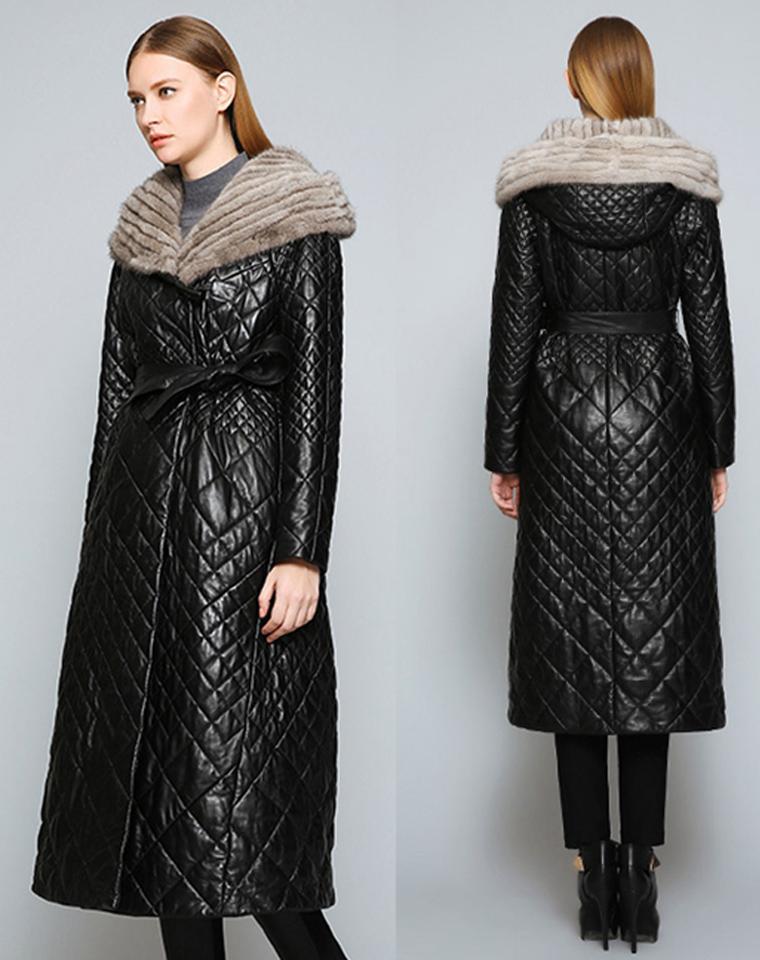 超级高档年货  仅1688元  越长越时髦  气场全开 水貂毛领  绵羊皮超长大衣