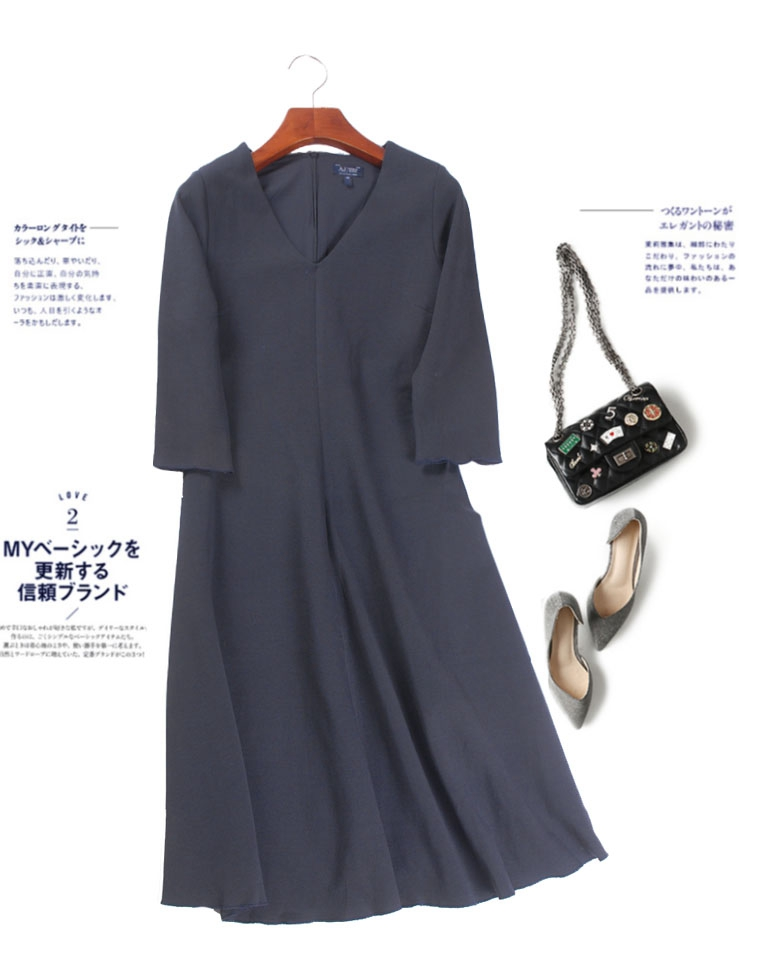 超级牛货  自带光芒的小黑裙  胜在裁剪 仅165元   Armani阿玛尼 纯正原单  立体裁剪  修身显瘦 得体    长袖连衣裙