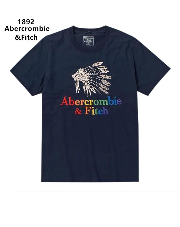给纯爷们の   仅69.9元   美国AF Abercrombie fitch小鹿原单  男修身圆领纯棉短袖