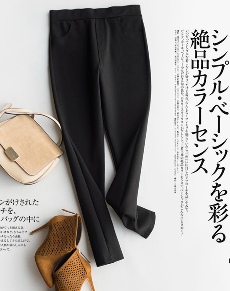 有细节的品质基本款  上身显高显瘦  仅85元  细纹开叉小脚九分裤