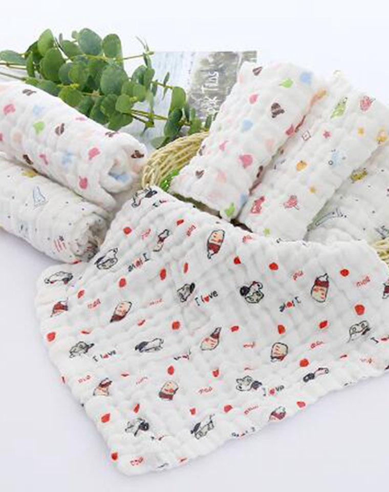 家家都需要的6层纱布    万用巾  仅4.8元    纯棉小方巾 柔软儿童巾起皱方巾