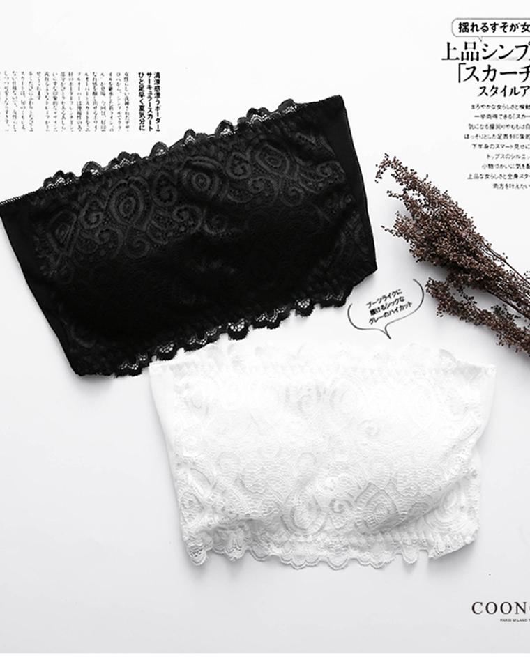 夏日必备  仅18元  小日本订单  抹胸无钢圈零束缚文胸三排扣性感蕾丝花面内衣