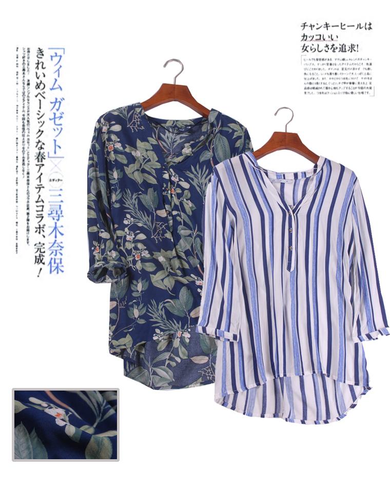 超薄防晒  夏日外搭  仅59元 巴西ALK纯正原单  竖条纹蓝白 雨林印花 超薄7分袖衬衫 防晒衫