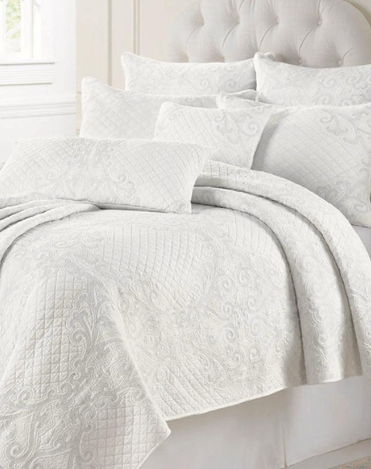 绝壁高大上  出口精品  夏凉被三件套 仅259元  美国订单  纯棉精品绗缝被  床盖三件套