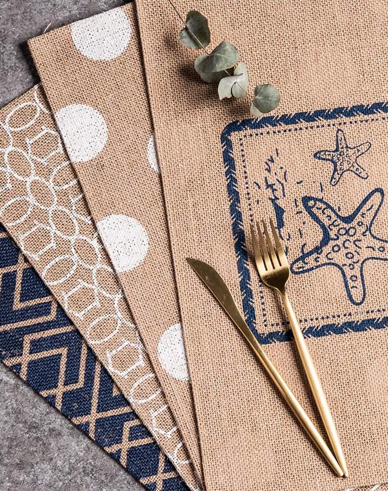 拔草必收  品质生活 仅9.9元一片 日式天然黄麻   餐垫隔热垫 特别好看提高居家品质