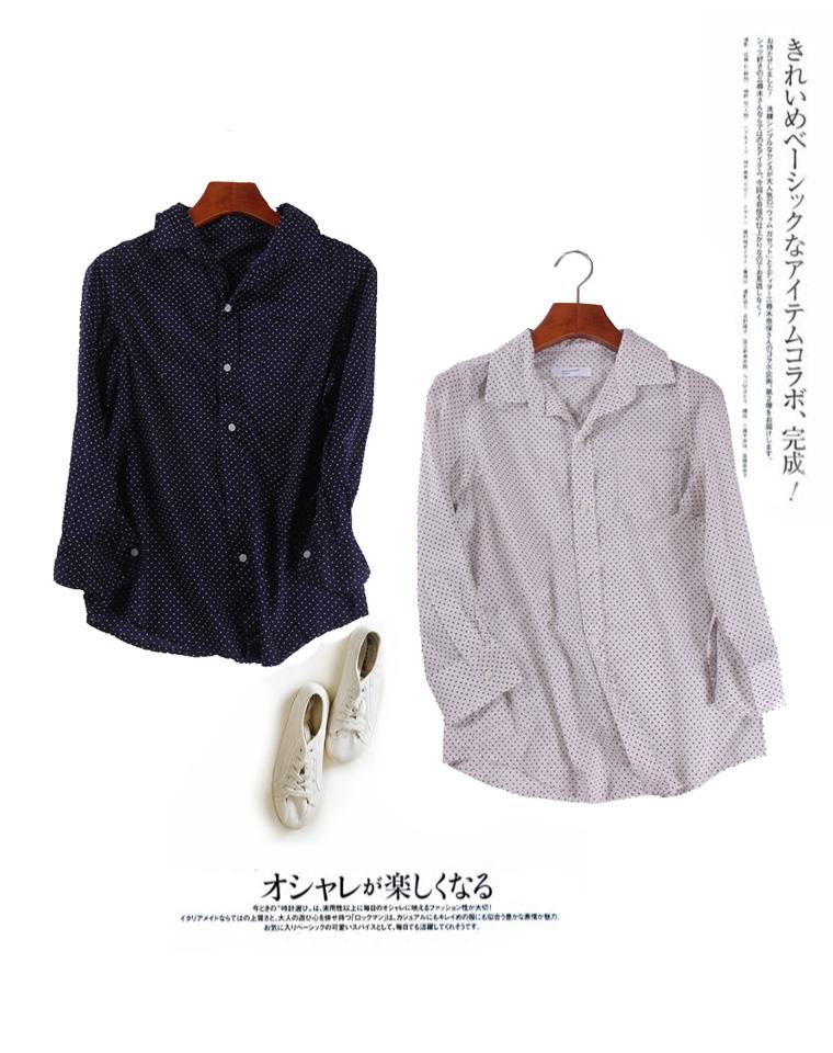 超薄防晒 小外搭  仅45元  日本BACK NUMBER 纯正原单  水玉波点 清新防晒衫 薄款衬衫