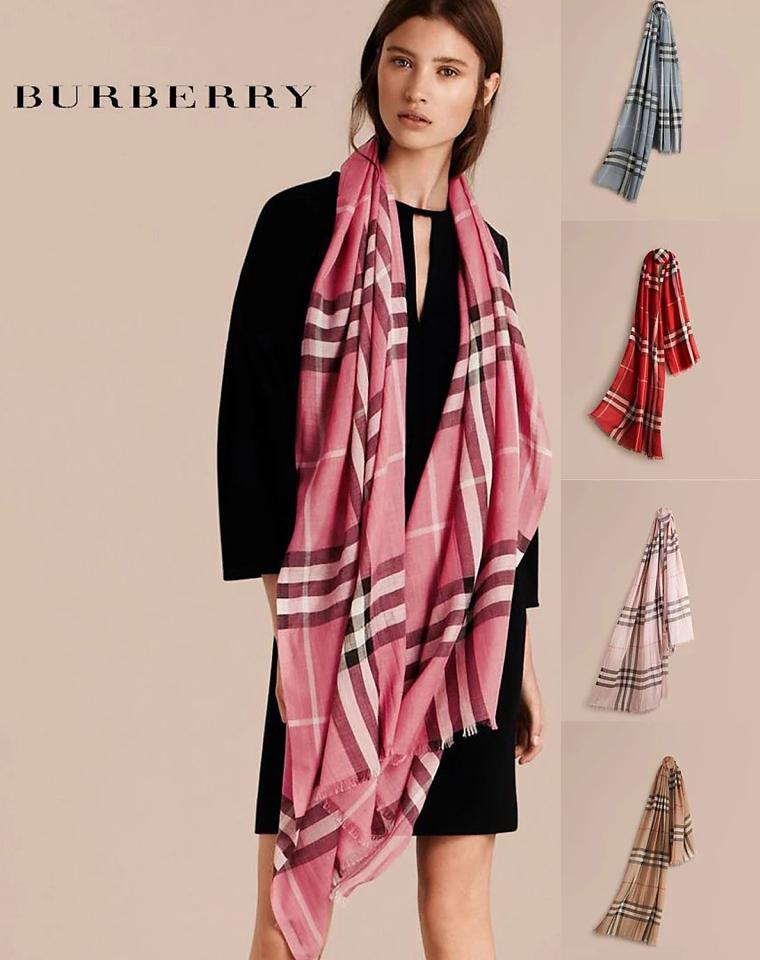 牛货必入款   仅368元  欧洲订单 Burberry羊绒真丝围巾  情侣款  Burberry围巾