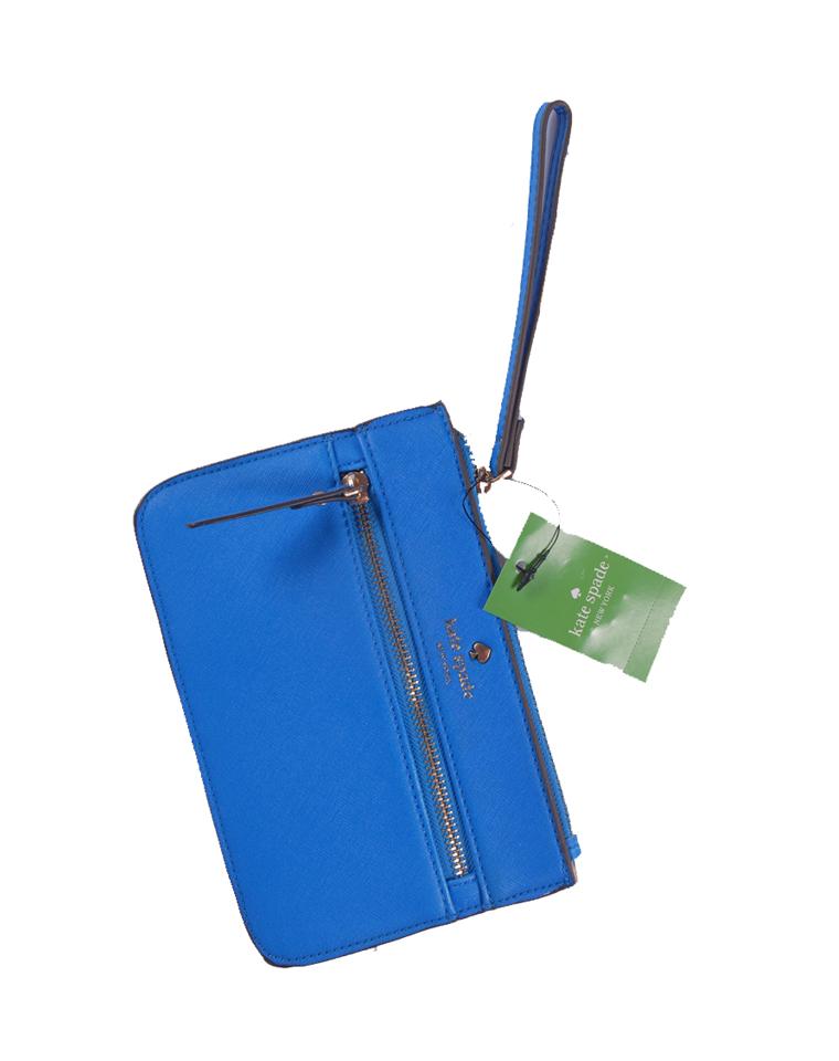 超值回馈  仅 19.9元 美国 Kate spade十字纹  彩蓝大钞包 包中包 手拿包