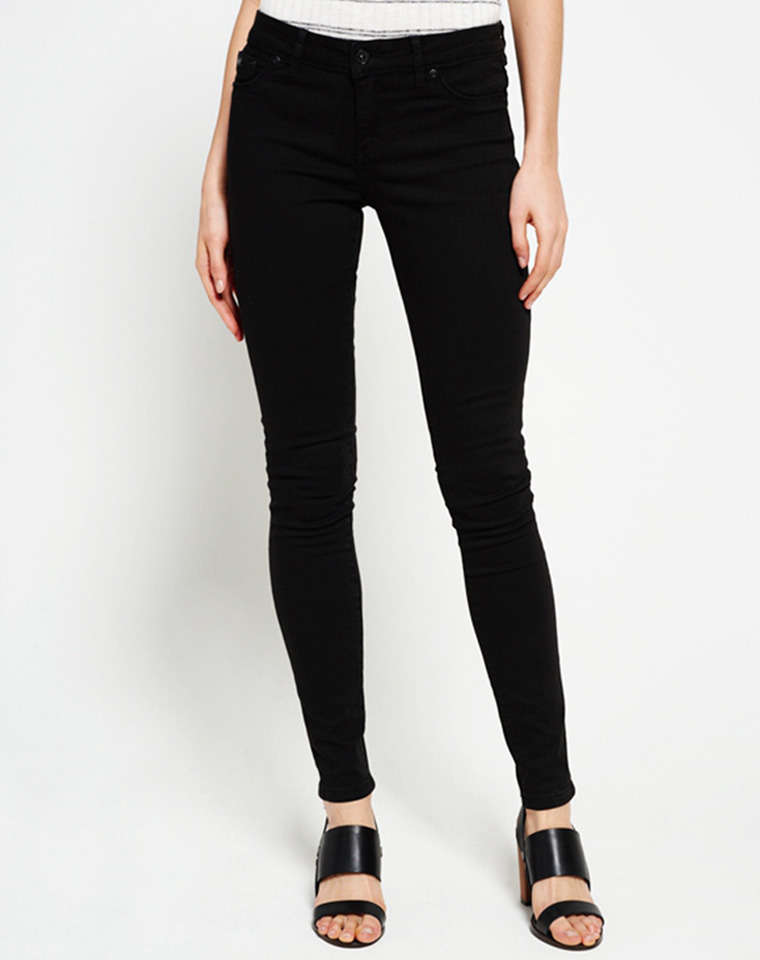 假一罚万  仅75元   英国Superdry极度干燥  纯正原单 简约百搭棉弹原单黑色小脚裤