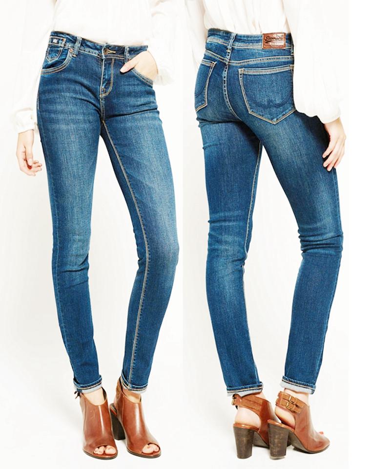 人手一条品质基本款  仅85元 英国superdry极度干燥原单秋季最新 简约棉弹利小脚裤  铅笔裤