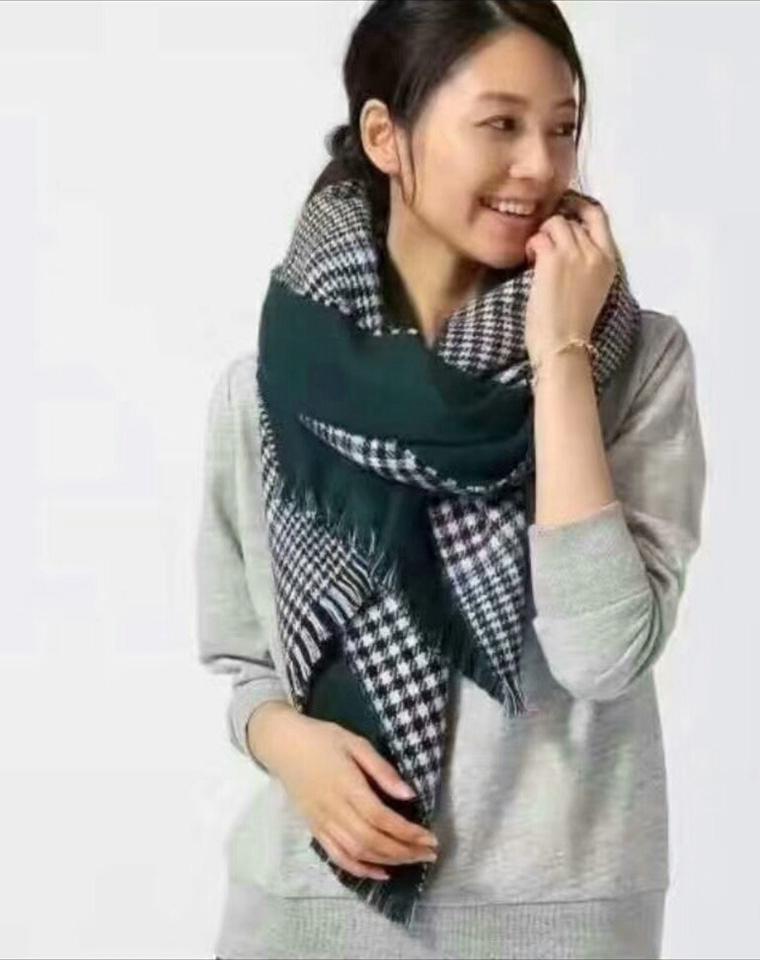 特别的围巾  仅55元 日本高端  global  work纯正原单   正反双色织 绵软加厚围巾 经典别致