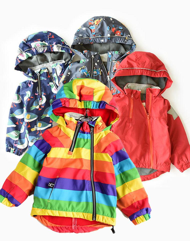加绒更好穿 超好品质  儿童加绒加厚防风外套 仅95元 连帽棉衣棉服 男童女童 秋冬装
