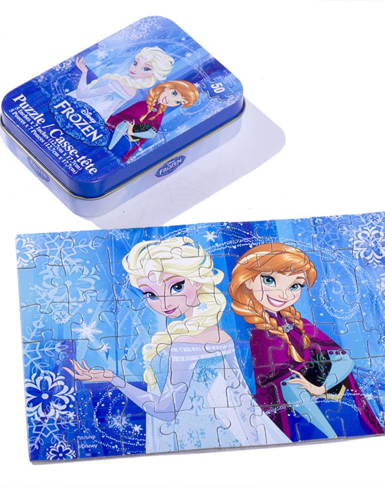 9块9包邮    16.8元一组2个    超值好货  亲妈必收   美国Disney原单!!外网7美金!!铁盒儿童卡通拼图