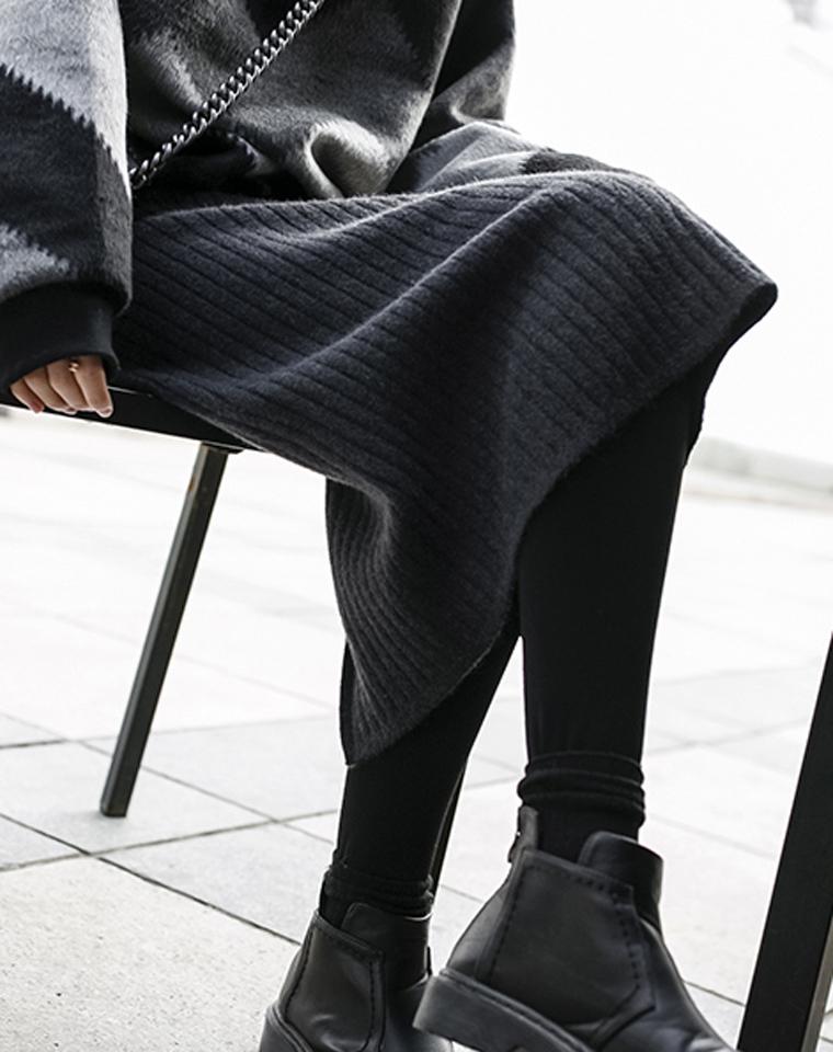 人手一条羊绒开叉包裙  仅79元  好品质 包臀裙气质修身百搭一步裙 中长款高腰纯色针织半身裙