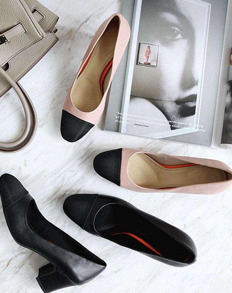 舒适白宫鞋    仅238元  美国老牌Rockport 乐步 拼色白宫系列  小羊皮 浅口皮鞋