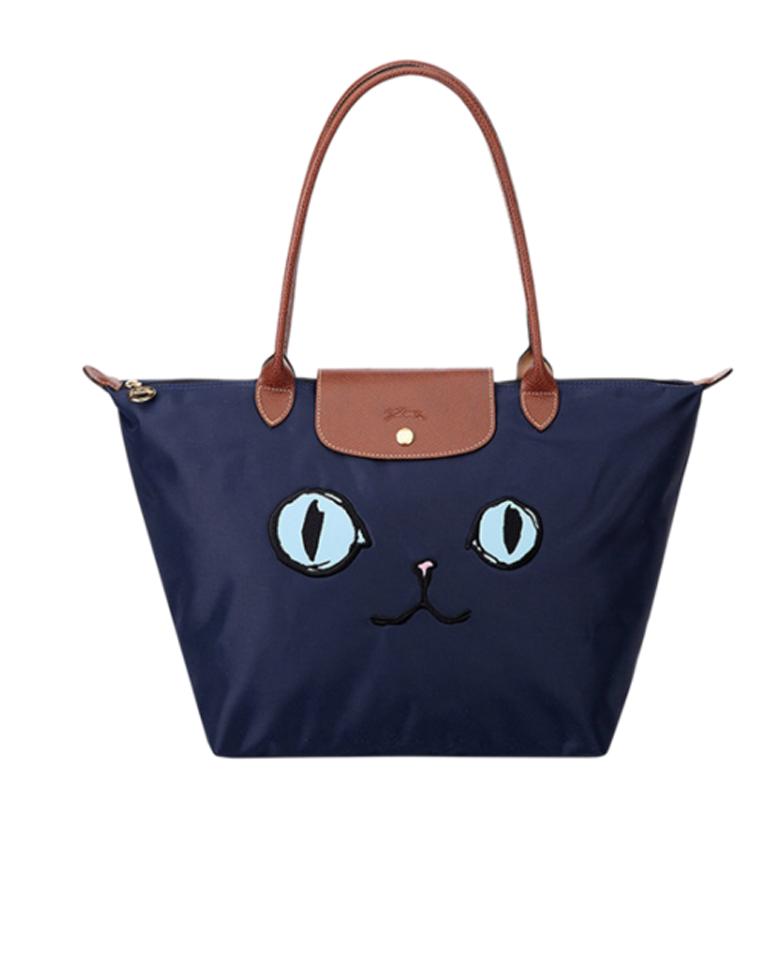 镇店好货  仅128元  148元法国Longchamp龙镶 大号中号长柄猫咪款限量  饺子包