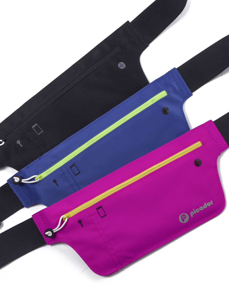 超实用  仅19.9元 Picador纯正原单  男女超薄跑步运动腰包隐形贴身弹力腰包防水腰包