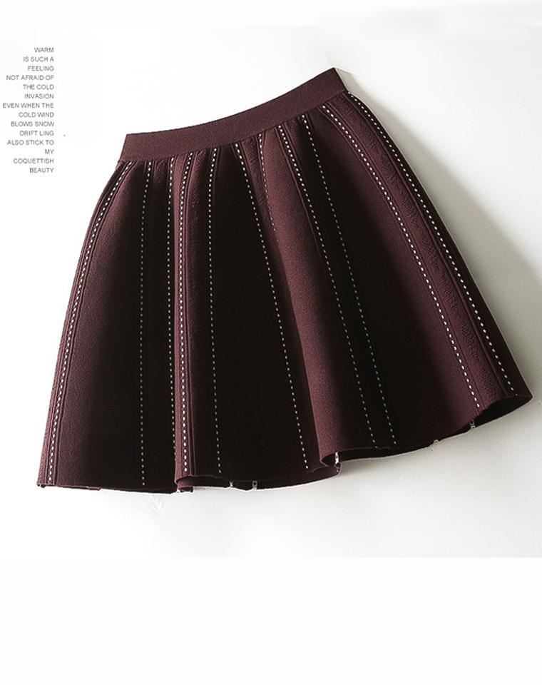 超级省心百搭 好品质  仅95元  法式chic风 冰麻针织面料 通勤品质半裙