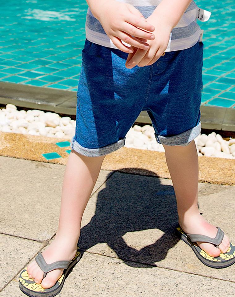 超好品质  亲妈必收 仅49元  外贸订单 儿童纯棉五分短裤 男童女童夏季条纹裤中裤