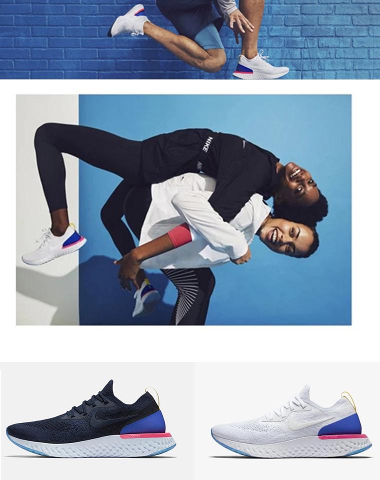 反季清仓    特殊渠道   仅185元 Nike Epic React Flyknit飞线网面透气跑步鞋 情侣款