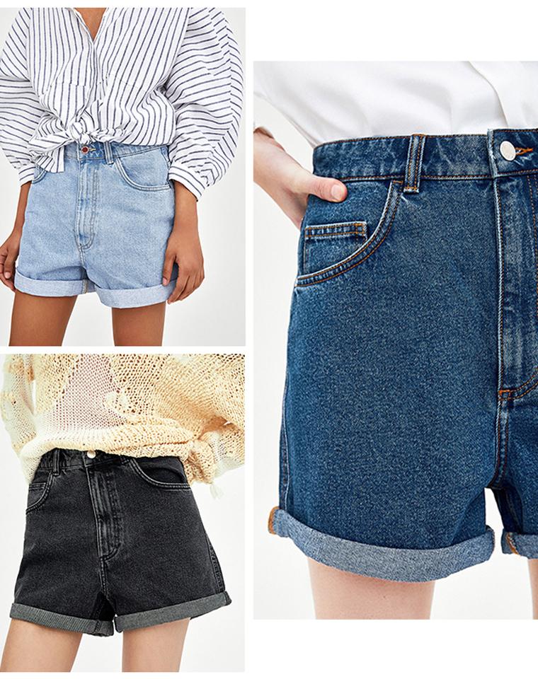 孩儿妈人手一件  仅65元  西班牙ZARA纯正原单  超推荐的复古大高腰短裤!!