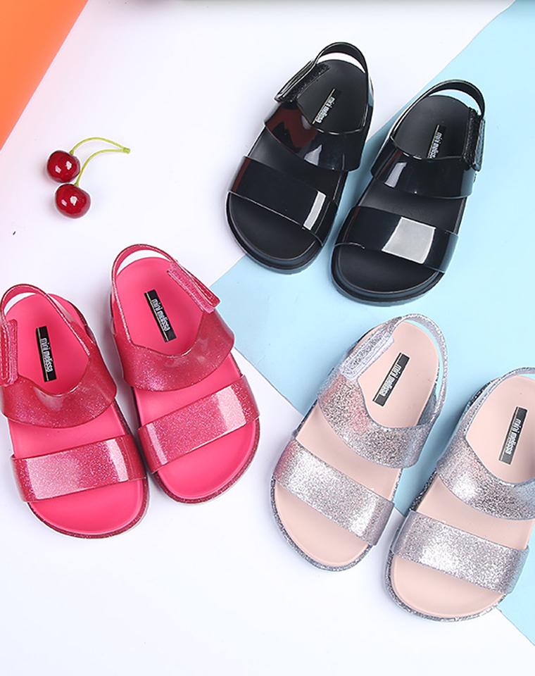 六一给孩子 仅95元  mini melissa cosmic梅丽莎  2018水晶宝宝果冻凉鞋 果冻鞋