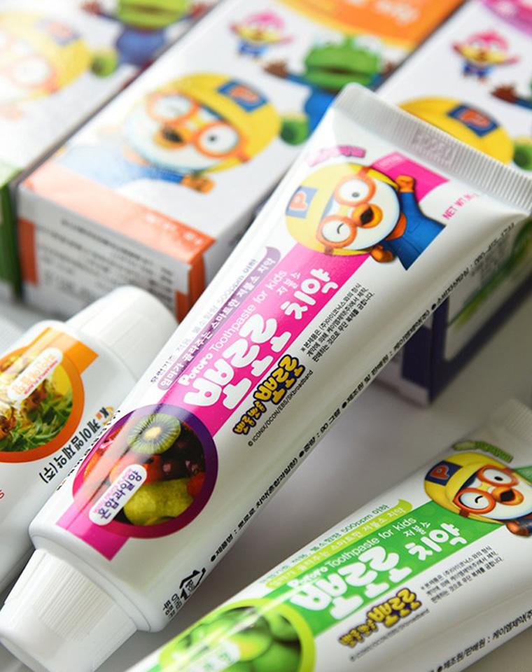9块9包邮   亲妈必收     韩国进口 啵乐乐牙膏 儿童水果味刷牙 3岁以上