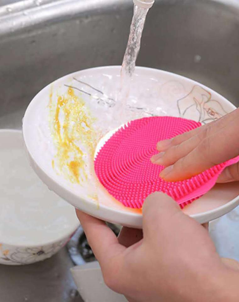9块9包邮   16.8元一组2只   多功能硅胶洗碗刷 减少细菌 卫生升级   外贸订单   硅胶清洁刷 蔬菜水果清洁圆形硅胶刷