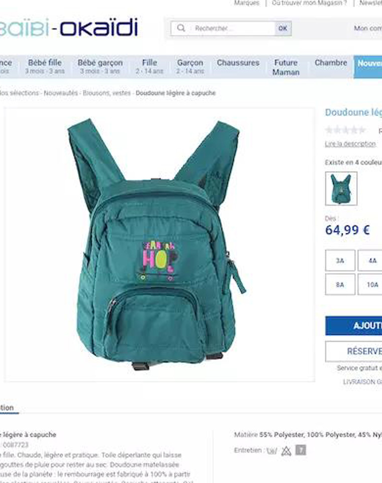 开学季精品     仅24.9元!!! 超值福利 法国okaidi纯正原单  宝贝入园包包!!64.9欧!!好东西!
