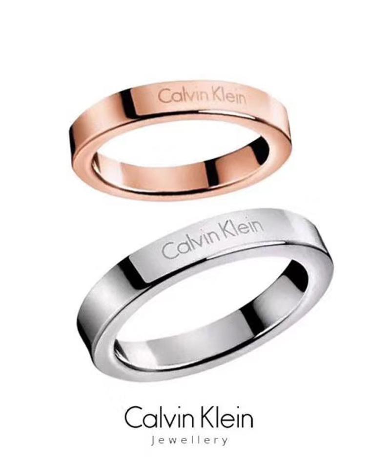 这个必须有 不能再超值!!仅69元  男女款  美国Calvin Klein CK 简约款情侣戒指