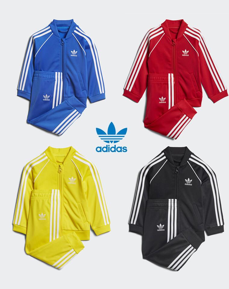 超值捡漏 回馈价79元 孩子的套装 仅95元   Adidas阿迪达斯 经典复古三道杠  内里薄绒男女童超美 拉链运动服套装